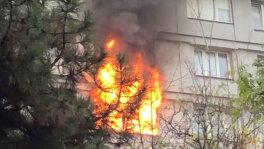 Pożar mieszkania w Warszawie
