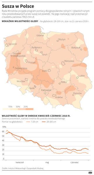 Susza w Polsce (Maciej Zieliński/PAP/IMGW)