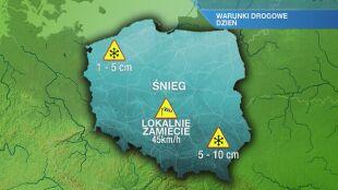Warunki drogowe w sobotę 16.01
