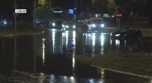 Interwencje po burza w Lublinie